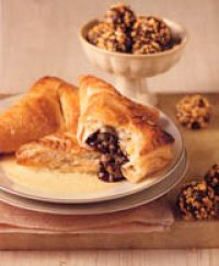 Giant Chocolate Turnovers with Orange Custard Sauce