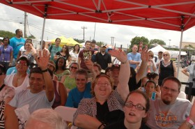 The lively audience at Taste of Dallas