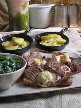 grilled lamb chops with steak butter