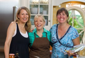 """Sara's Weeknight Meals"""" producers from left to right: Natalie Gustafson, yours truly, Adrienne Hammel"""